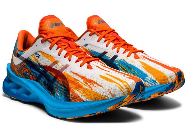 asics Novablast Shoes Men digital aqua/marigold orange